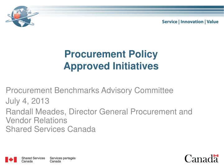 procurement policy approved initiatives n.