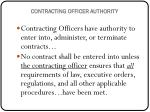 contracting officer authority