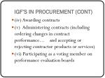 igf s in procurement cont