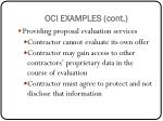 oci examples cont