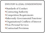 statutory legal considerations