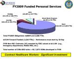 fy2009 funded personal services