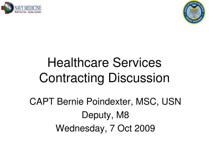 healthcare services contracting discussion n.