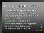 the approach in retail sales2