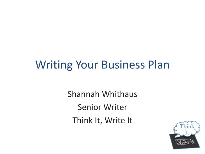 writing your business plan n.