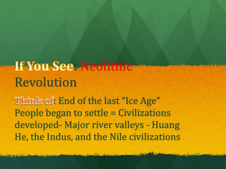 if you see neolithic revolution n.