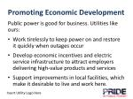 promoting economic development