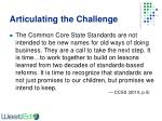 articulating the challenge
