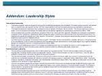addendum leadership styles