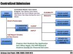 centralized admission