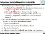 scheduled availability and net availability2