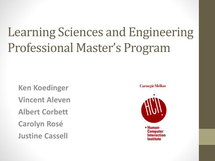 learning sciences and engineering professional master s program n.