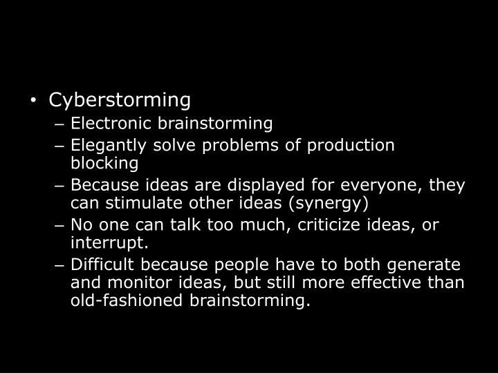 Cyberstorming