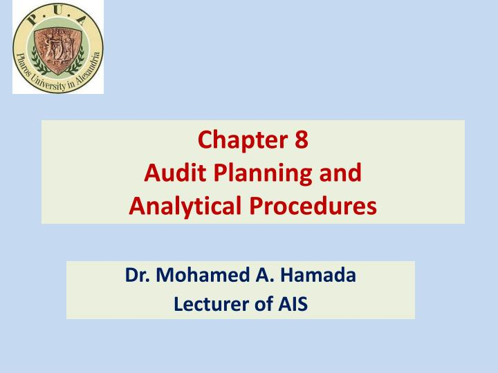 chapter 8 audit planning and analytical procedures n.