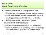 key players game development studios