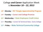 college and career application week is november 18 22 2013