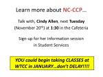 learn more about nc ccp