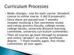 curriculum processes