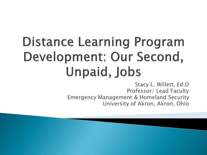 distance learning program development our second unpaid jobs n.