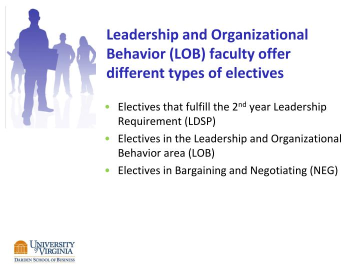 leadership and organizational behavior lob faculty offer different types of electives n.