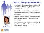 the 21 st century family enterprise