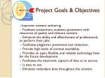 project goa ls objectives
