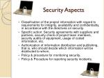 security aspects
