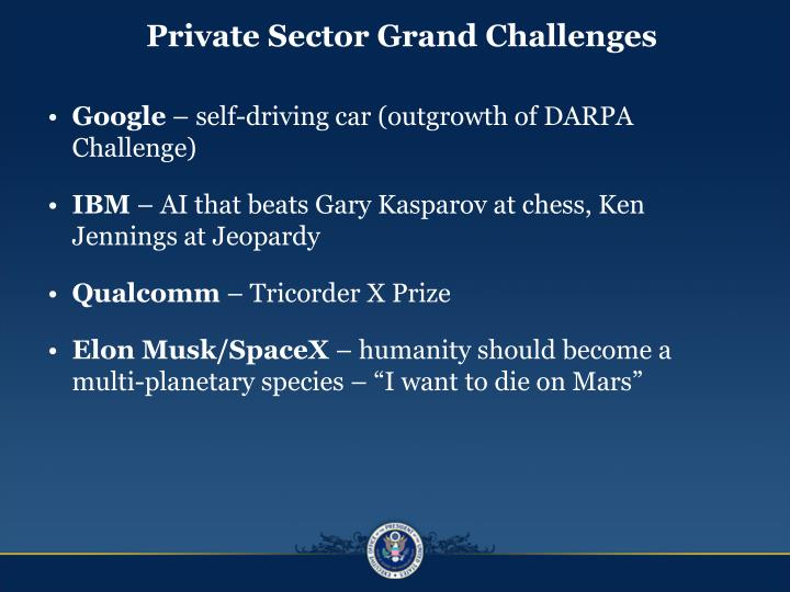 Private Sector Grand Challenges