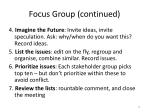 focus group continued