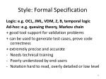 style formal specification