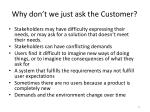 why don t we just ask the customer