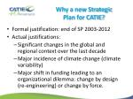 why a new strategic plan for catie