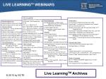 live learning tm webinars