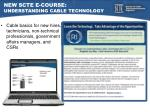 new scte e course understanding cable technology