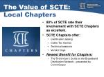 the value of scte local chapters