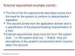 external requirement example contd2