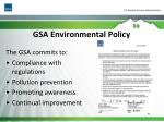 gsa environmental policy
