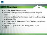 sems objectives