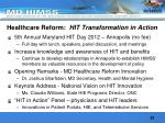 healthcare reform hit transformation in action