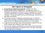 hot topics in annapolis