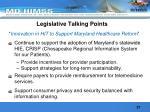 legislative talking points