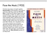 face the music 1932