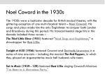 noel coward in the 1930s