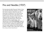 pins and needles 1937
