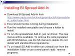 installing bi spread add in