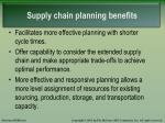 supply chain planning benefits