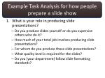 example task analysis for how people prepare a slide show