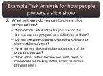 example task analysis for how people prepare a slide show1