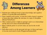 differences among learners