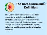 the core curriculum definition
